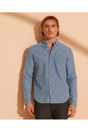 Superdry Klassisk denimskjorte med knapper i kragespissene