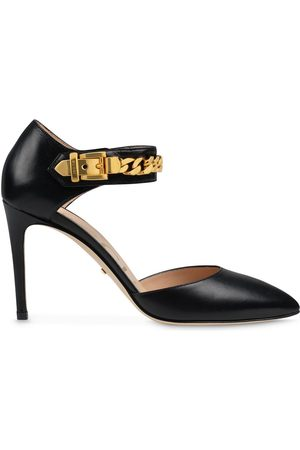 Gucci Dame Pumps - Chain-detail 95mm pointed pumps