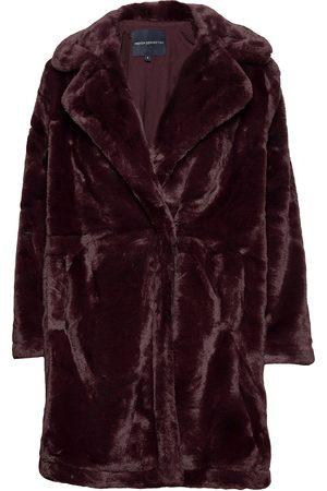 French Connection Pf Banna Faux Fur Long Coat Outerwear Faux Fur Lilla