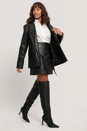NA-KD Fringe PU Mini Skirt