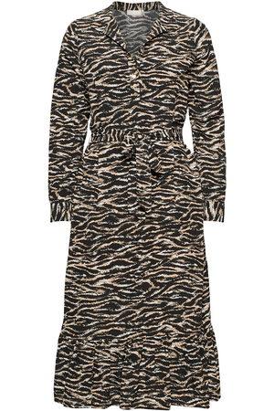 Notes Du Nord Dame Midikjoler - Rosie Zebra Dress Knelang Kjole Svart