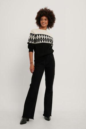 NA-KD Dame Strikkegensere - Pattern Knit Sweater