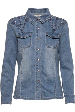 Cream Yillacr Jeans Skjorte