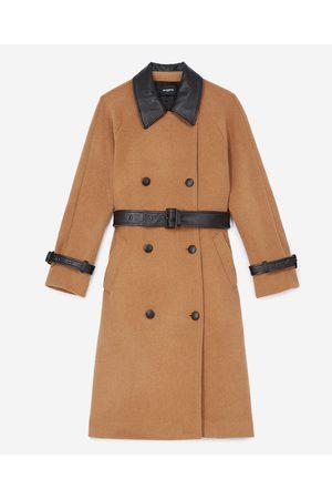 The Kooples Trench-style beige wool coat