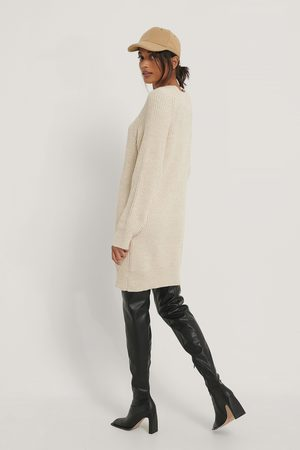 NA-KD Long High Neck Knitted Sweater