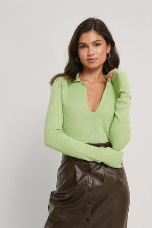 NA-KD Dame Gensere - Collar Detail Knitted Sweater