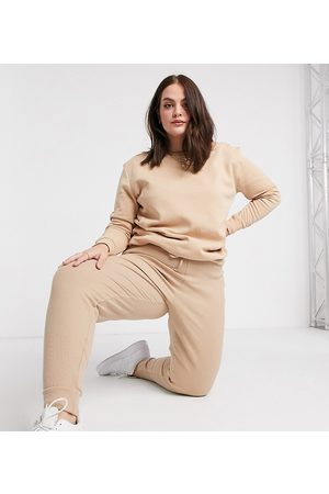Simply Be Co-ord jogger in oatmeal-Stone