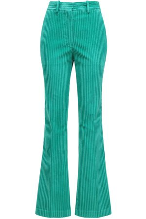 Victoria Beckham Flared Cotton Corduroy Pants