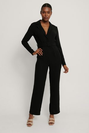 NA-KD Dame Jumpsuits - Belted Straight Leg Jumpsuit