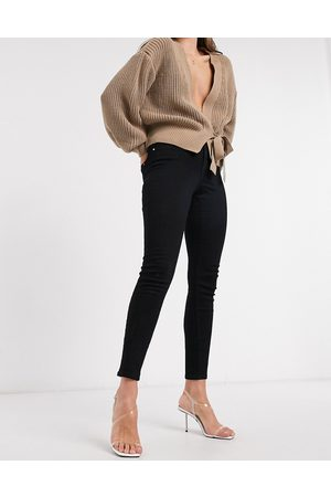 Only Dame Skinny - Wauw skinny jeans with mid waist in black