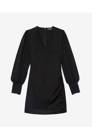 The Kooples Dame Korte kjoler - Flowing satin black dress