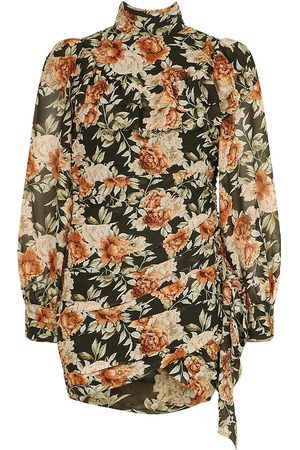 Boohoo Dame Bodycon kjoler - Petite Floral High Neck Mini Dress
