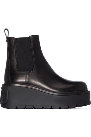 VALENTINO GARAVANI Uniqueform leather 85mm ankle boots