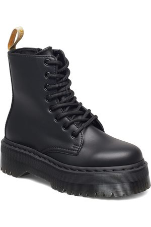 Dr. Martens V Jadon Ii Mono Black Felix Rub Off Shoes Boots Ankle Boots Ankle Boot - Flat