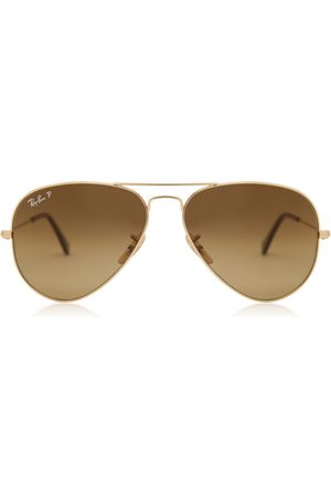 Ray-Ban Solbriller RB3025 Aviator Large Metal Polarized 001/M2