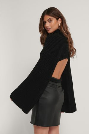 Stéphanie Durant x NA-KD Dame Pologensere - Cut Out Back Knitted Sweater