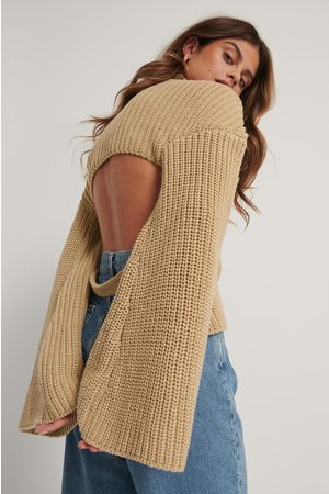 Stéphanie Durant x NA-KD Cut Out Back Knitted Sweater