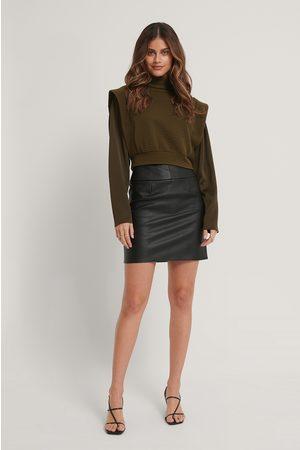 Stéphanie Durant x NA-KD Waist Detail Pu Mini Skirt