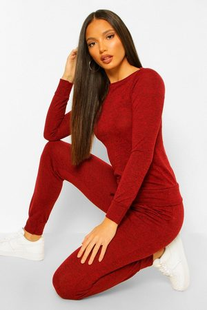 Boohoo Tall Light Weight Knit Slash Neck Lounge Set
