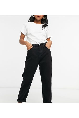ASOS ASOS DESIGN Petite high rise 'original' mom jeans in black