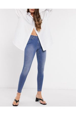 Object Sophie high wasit skinny jeans in blue