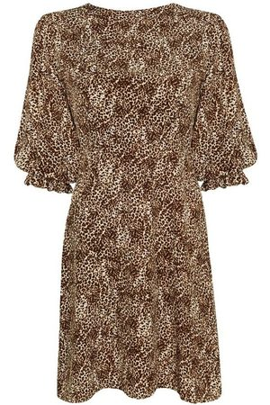 FAITHFULL THE BRAND Fontane Mini Dress - Charlie Leopard Print