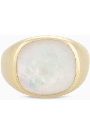 PapayaOslo Dame Ringer - Golden Signet Mother Of Pearl