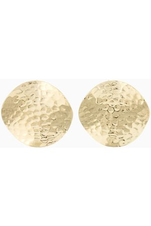 PapayaOslo Golden Hammered Space Studs L