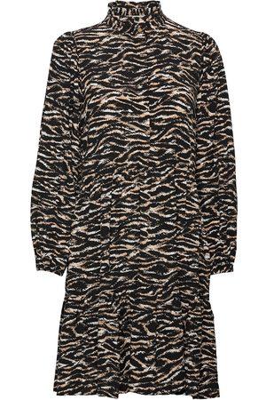 Notes Du Nord Dame Maxikjoler - Rosie Zebra Short Dress Maxikjole Festkjole Svart