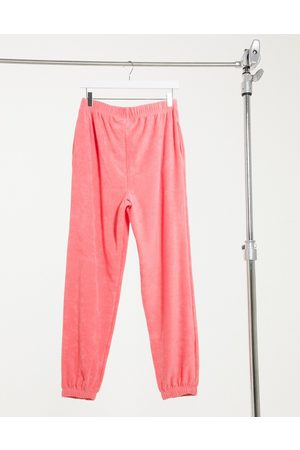 ASOS Mix & match lounge towelling jogger in pink
