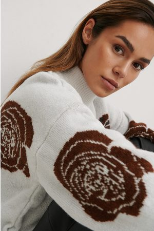 NA-KD Rose Knitted Sweater