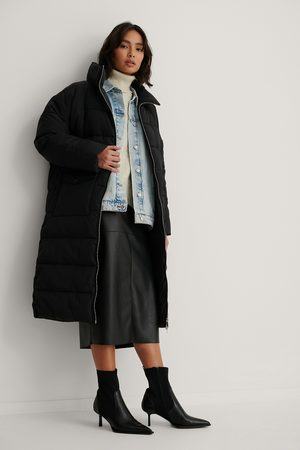 NA-KD Dame Jakker - Big Pocket Padded Long Jacket