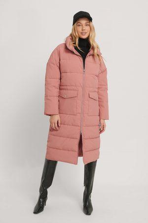 NA-KD Big Pocket Padded Long Jacket