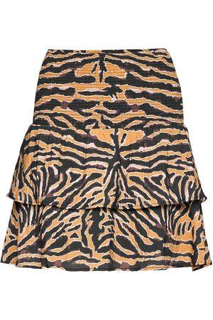 Second Female Zebraly Skirt Kort Skjørt Oransje