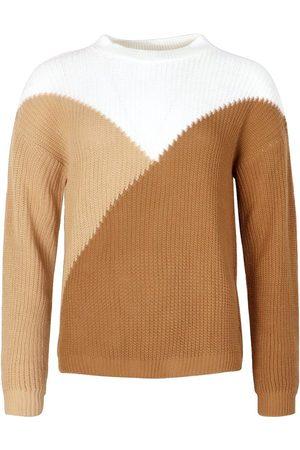 Boohoo Tall Colour Block Knitted Jumper