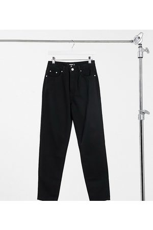 Missguided Dame Mom - Riot highwaisted recycled denim mom jean in black