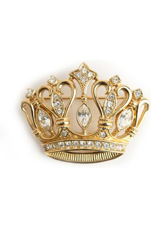 Kenneth Jay Lane Antique crown brooche