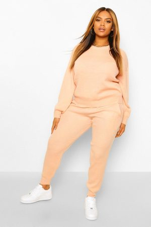 Boohoo Plus Knitted Jumper & Jogger Co-Ord