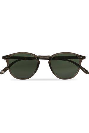 GARRETT LEIGHT Herre Solbriller - Hampton 46 Sunglasses Black Glass
