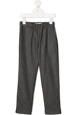 BONPOINT Virgin wool stripe-trim trousers