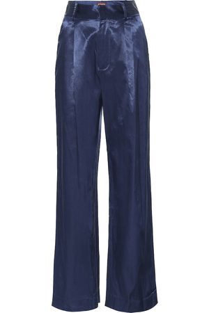Staud Bruco cotton-blend wide-leg pants