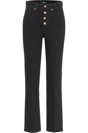 7 for all Mankind Cropped Boot high-rise jeans