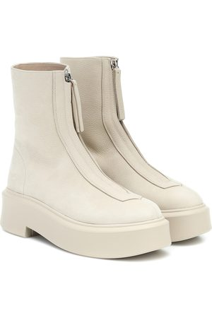 The Row Zipped 1 leather ankle boots