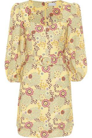 Rebecca Vallance Sahara floral linen-blend minidress