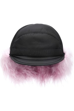 Prada Mohair-trimmed nylon cap