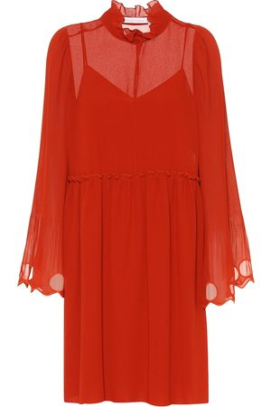 Chloé Ruffled georgette dress