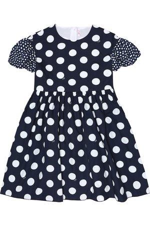 Il gufo Polka-dot cotton dress