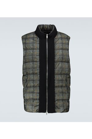 UNDERCOVER Checked padded vest