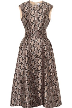 Msgm Snake-print midi dress