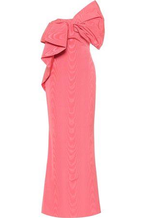 Oscar de la Renta One-shoulder moiré faille gown